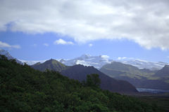 View across to the glaciers. From Skaftafell National Park Iceland Stock Photography