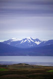 View across to the snow capped Royalty Free Stock Image