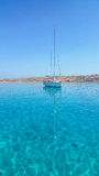 View across turquoise water Royalty Free Stock Images