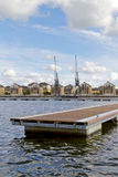 View across the water at Royal Victoria dock Stock Image