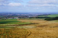 View Lancashire. View across west Lancashire from the hills between Belmont and Rivington Stock Photo
