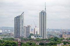 New Tower Block Flats, Elephant and Castle Royalty Free Stock Photos
