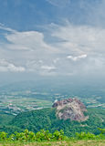 View from active volcano in Hokkaido, Japan Stock Images