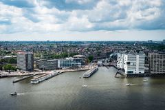 View from Adam Lookout in Amsterdam. royalty free stock image