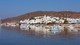 View of Adamantas village, Milos island, Cyclades, Greece Stock Photos