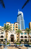 View of the Address Downtown Hotel in Dubai Stock Image