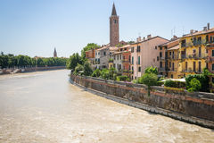 View on the Adige River in Verona, Italy, Royalty Free Stock Photo
