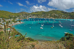 View of Admiralty Bay from Hamilton Fort on Bequia Royalty Free Stock Photos