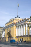 View of Admiralty in historical city center of Saint-Petersburg, Russia. Stock Photography