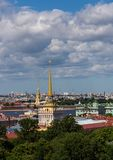 View of the Admiralty spire in the center of St. Petersburg. Russia royalty free stock photos