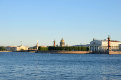 View of the Admiralty, St. Isaac's Cathedral, the arrow with Ros Royalty Free Stock Photos