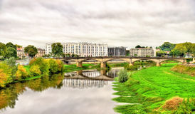 View of the Adour River in Dax - France, Landes Stock Images