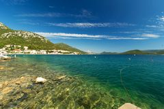 View of Adriatic sea coast on beautiful summer day Stock Images