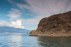 View of the Adriatic Sea in Croatia Royalty Free Stock Image