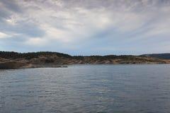 View of the Adriatic Sea in Croatia Stock Photo