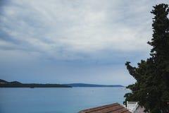 View of Adriatic Sea. Donji Seget. Trogir. Split Channel stock image
