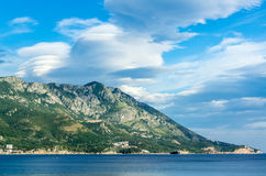 View on Adriatic sea and mountains Royalty Free Stock Image