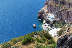 The view on Aegean sea. Santorini island, Greece stock image