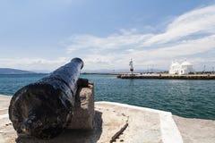 View of Aegina harbor. Greece Royalty Free Stock Photo