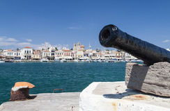 View of Aegina harbor Stock Images