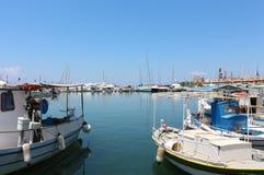 View of Aegina's port Stock Images