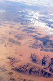 View from  aeroplane's window Royalty Free Stock Photo