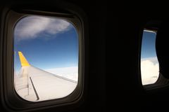 VIEW FROM THE AEROPLANE'S WINDOW Royalty Free Stock Images