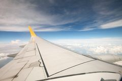 VIEW FROM THE AEROPLANE'S WINDOW Stock Photography