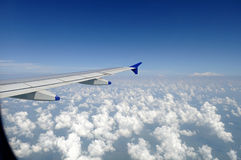 View from aeroplane window.  Stock Images