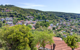 View of Afetes village, Pelio, Greece Royalty Free Stock Photo