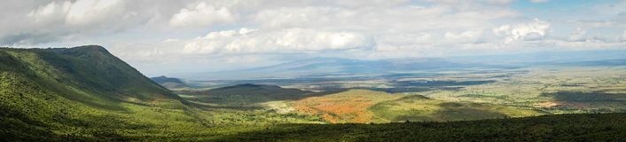 View of African rift valley in Kenya. View of the African rift valley in Kenya stock photography