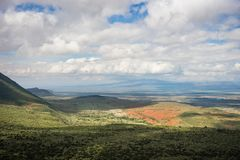 View of  African rift valley in Kenya. View of the African rift valley in Kenya Stock Photo