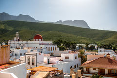 View on Agaete city in Canary islands Stock Photography
