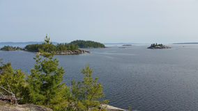 View from Agawa rock. Stock Images