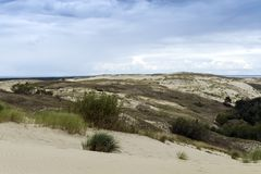 View from the Agilis Dune Royalty Free Stock Photos