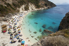 View of Agiofili Beach, Lefkada, Greece Stock Images