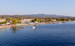View of Agiokampos beach, North Euboea, Greece Stock Image