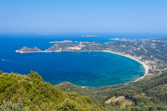 View of the Agios Georgios Bay Royalty Free Stock Images