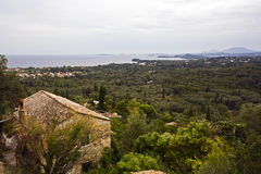 View from Agios Markos over east coast of Corfu Royalty Free Stock Photography