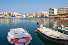 View of Agios Nikolaos. Crete, Greece Stock Photography