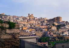 View of Agira, Sicily Stock Images