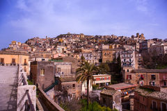 View of Agira, Sicily Stock Image