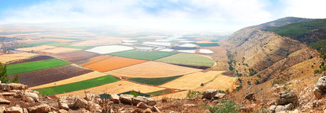 View on agriculture valley Stock Image