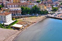 Agropoli Salerno Italy. View from Agropoli Salerno Italy royalty free stock images