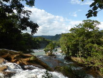 View of Agua Azul, Mexico Stock Photo