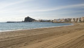 View of Aguilas Town and Harbor Stock Image