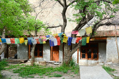 View of Aichi monastery in Ladakh, India Royalty Free Stock Images