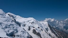View from the Aiguille du Midi Royalty Free Stock Images
