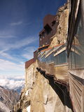 View on Aiguille Du Midi  Royalty Free Stock Images