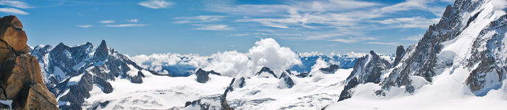 View of Aiguille Du Midi Royalty Free Stock Photos